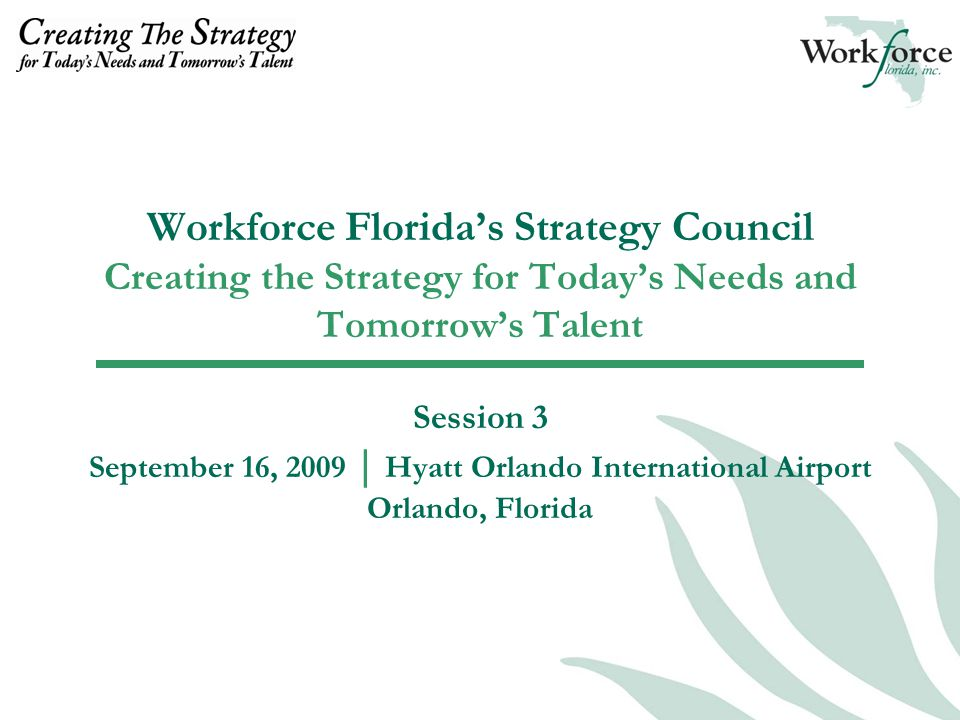 STAFF CONTACTS Andra Cornelius, CEcD, Vice President of Business and Workforce Development Opportunities acornelius@workforceflorida.com Deborah McMullian, Program Manager, Workforce Florida dmcmullian@workforceflorida.com