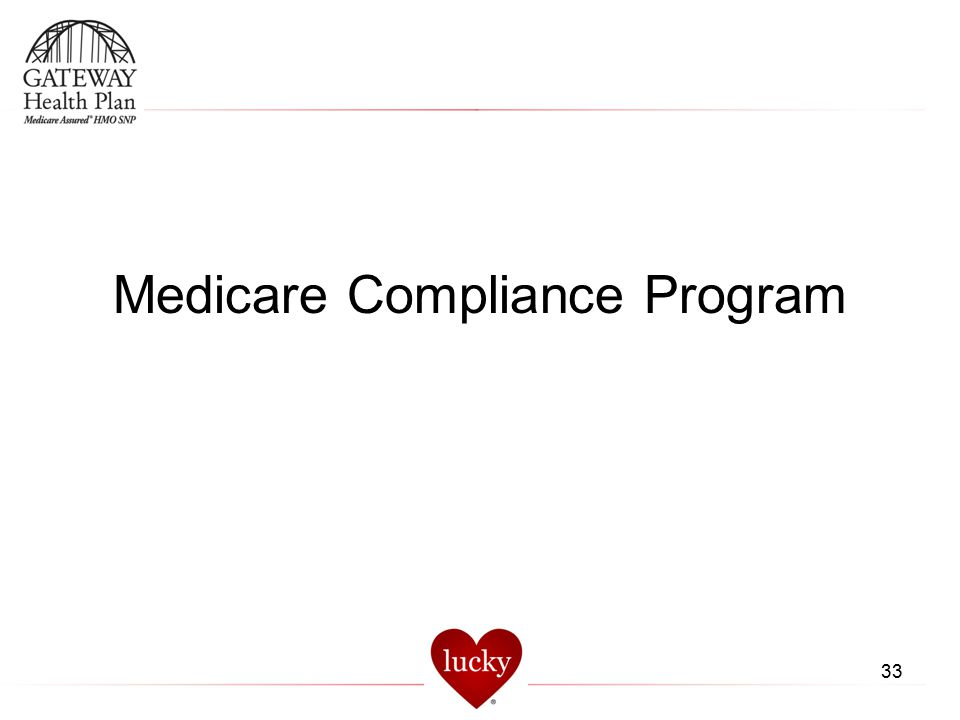 33 Medicare Compliance Program