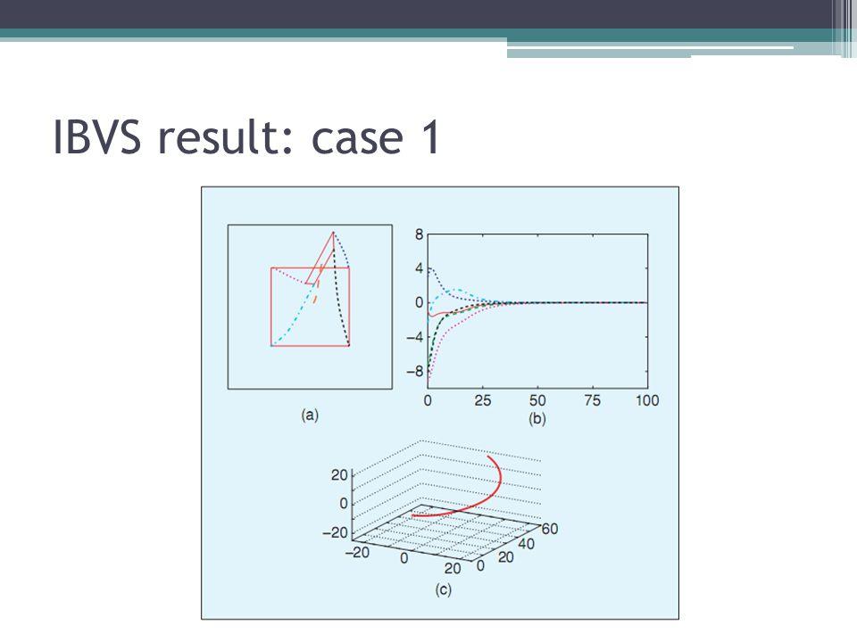 IBVS result: case 1