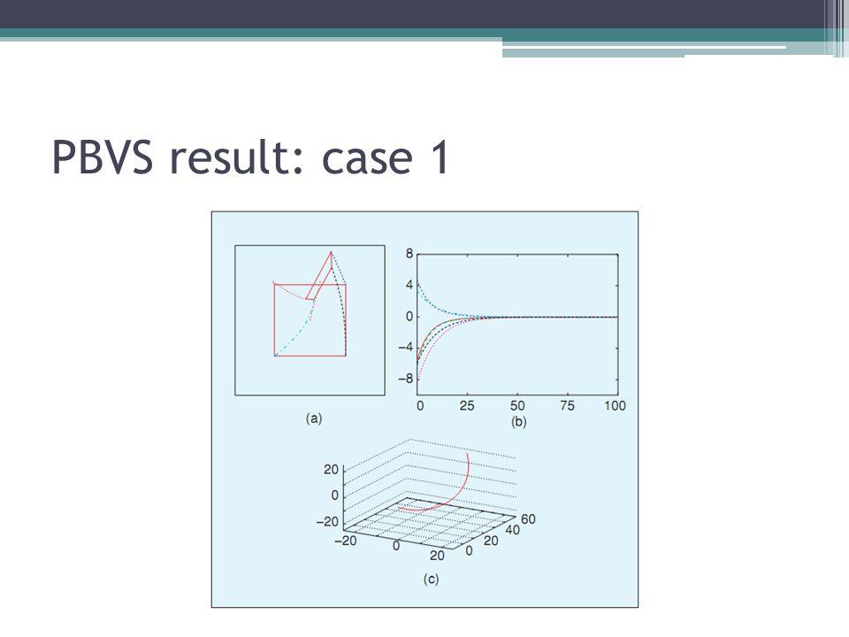 PBVS result: case 1