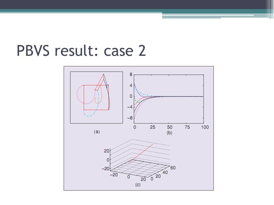 PBVS result: case 2