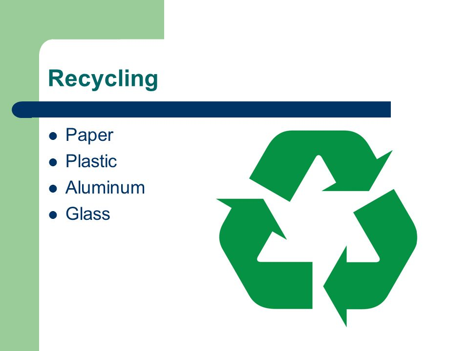 Recycling Paper Plastic Aluminum Glass