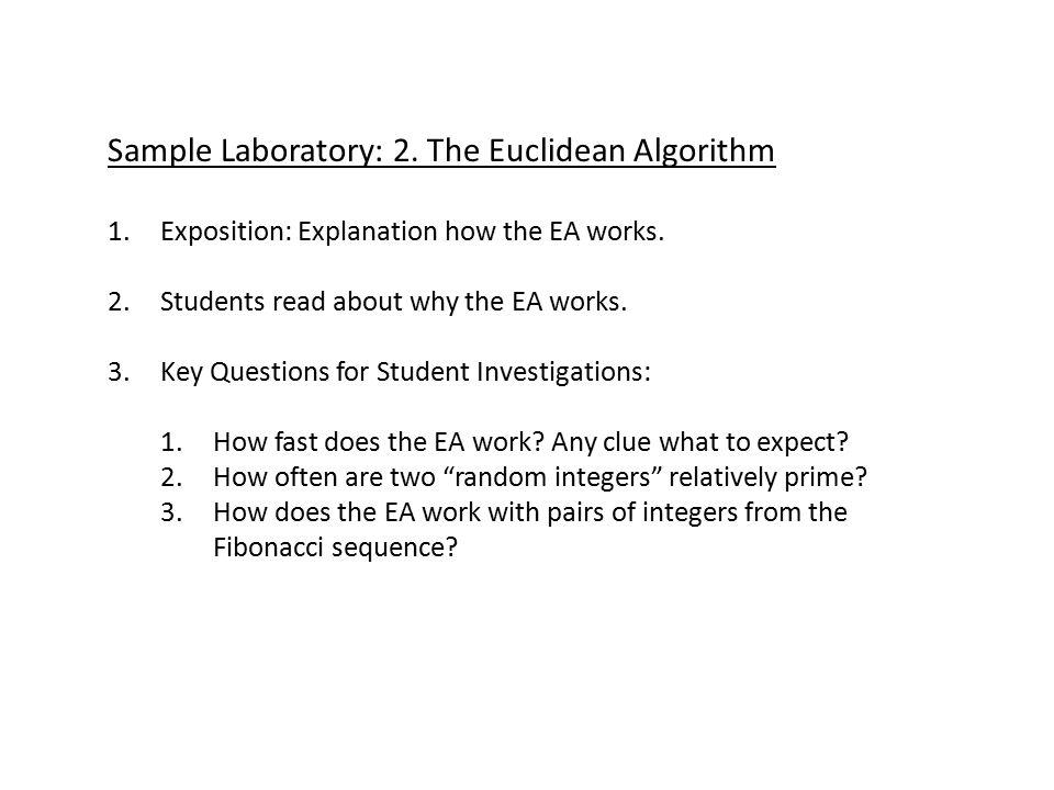 Sample Laboratory: 3.