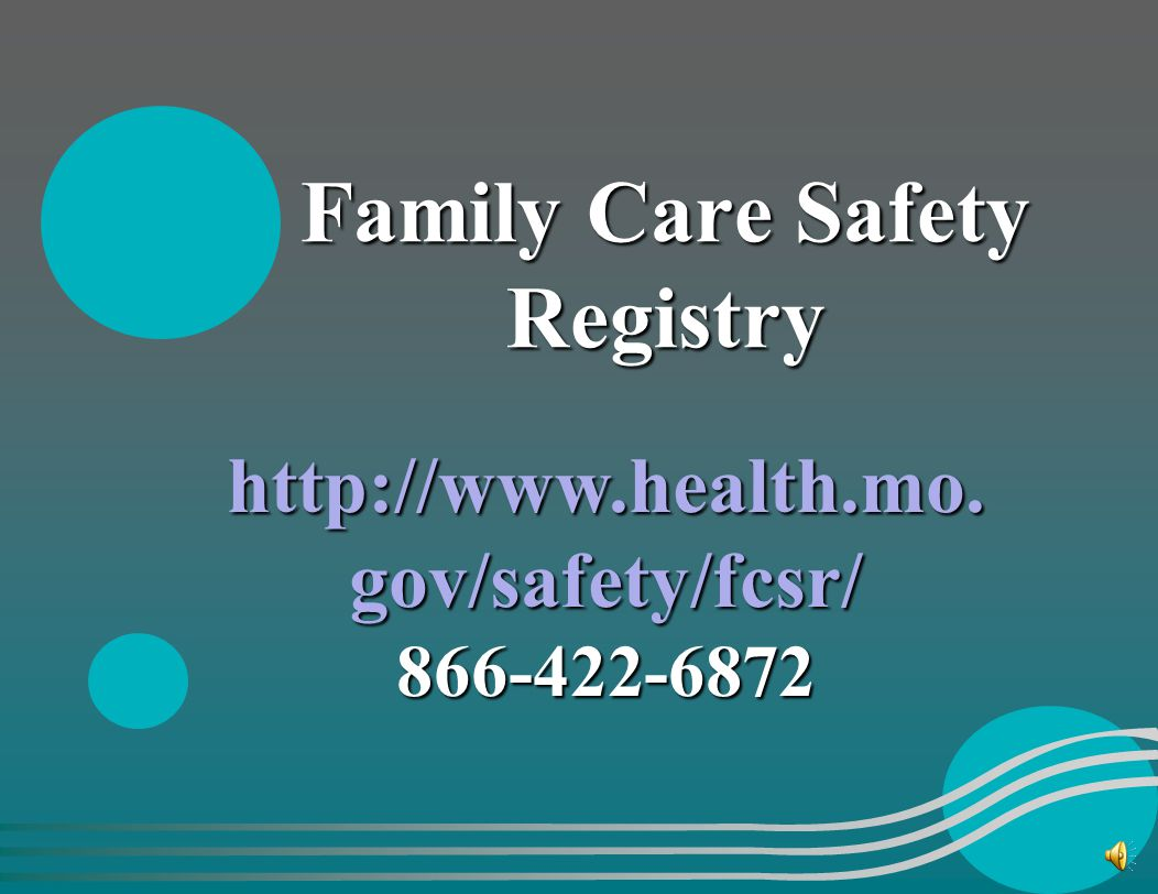 Quarterly & Annual EDL Updates http://www.health.mo.gov/safety /edl/