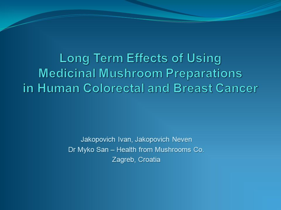 Jakopovich Ivan, Jakopovich Neven Dr Myko San – Health from Mushrooms Co. Zagreb, Croatia