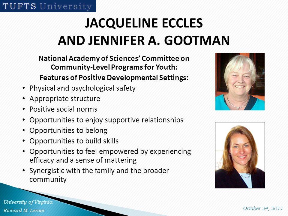 JACQUELINE ECCLES AND JENNIFER A.
