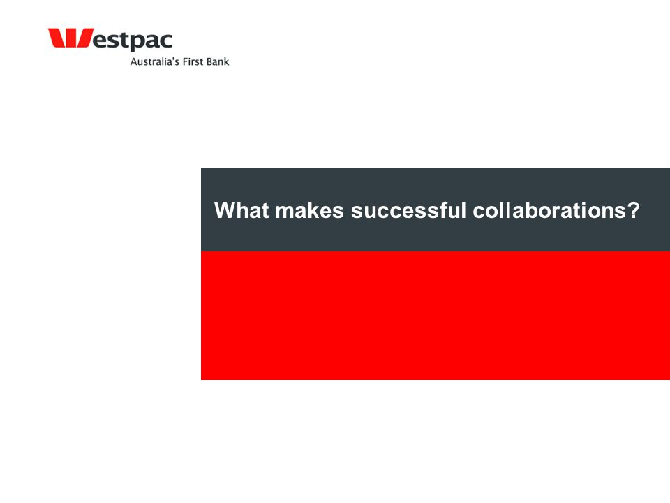 What makes successful collaborations