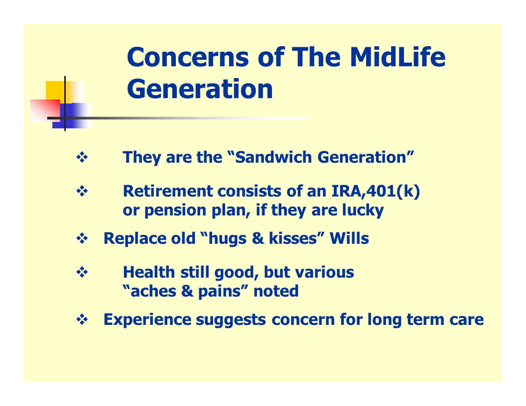 The Sandwich Generation I brought her home and began the painful process of learning to mother my own mother...