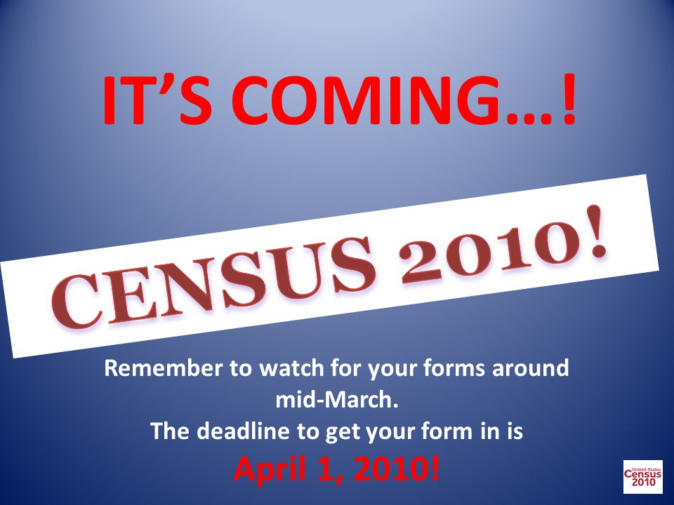 IT'S COMING…. Remember to watch for your forms around mid-March.