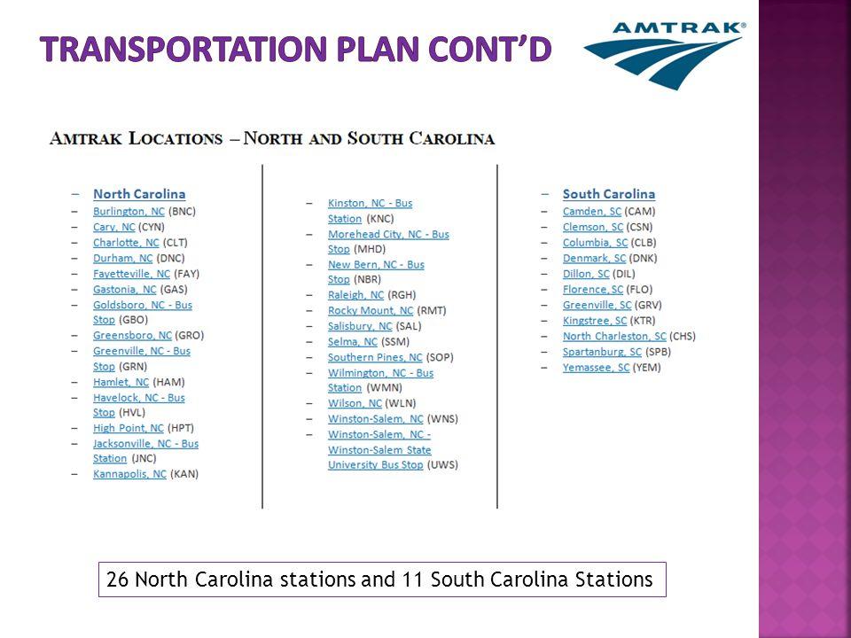 26 North Carolina stations and 11 South Carolina Stations