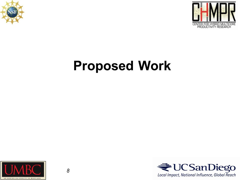 Proposed Work 8