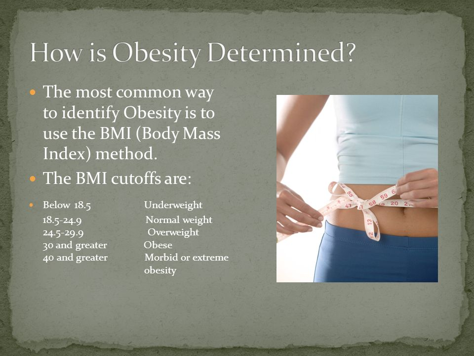 Obesity can affect every age. Over 1/3 rd of the adult population in America is classified Obese.