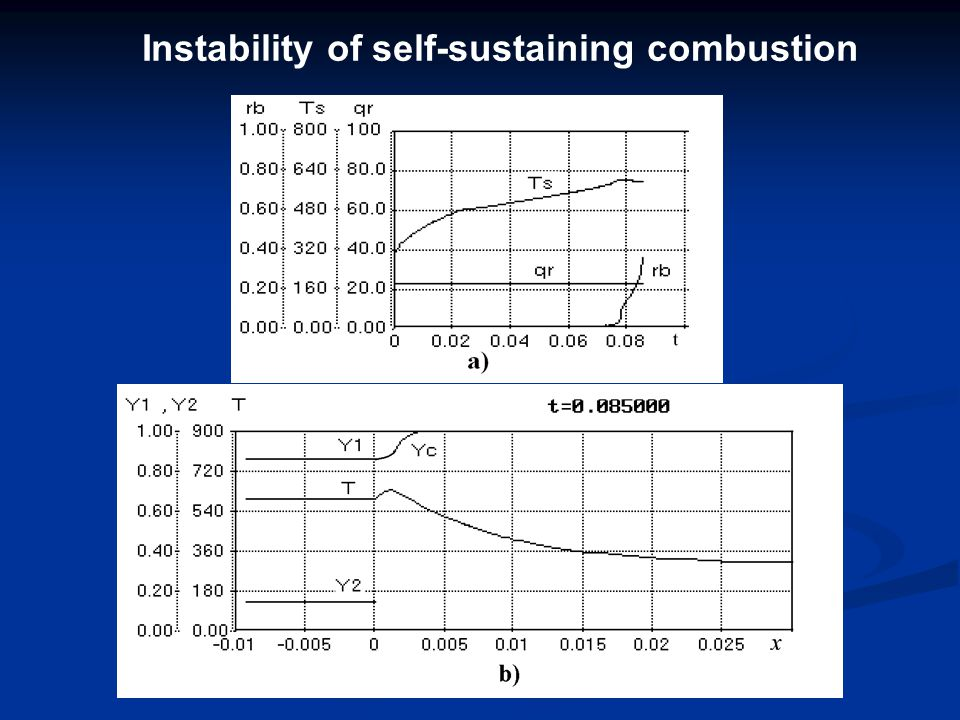 Instability of self-sustaining combustion