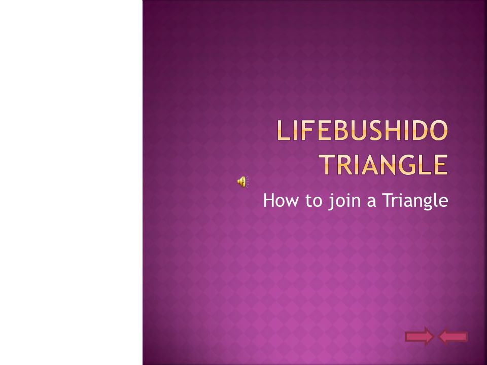 How to join a Triangle