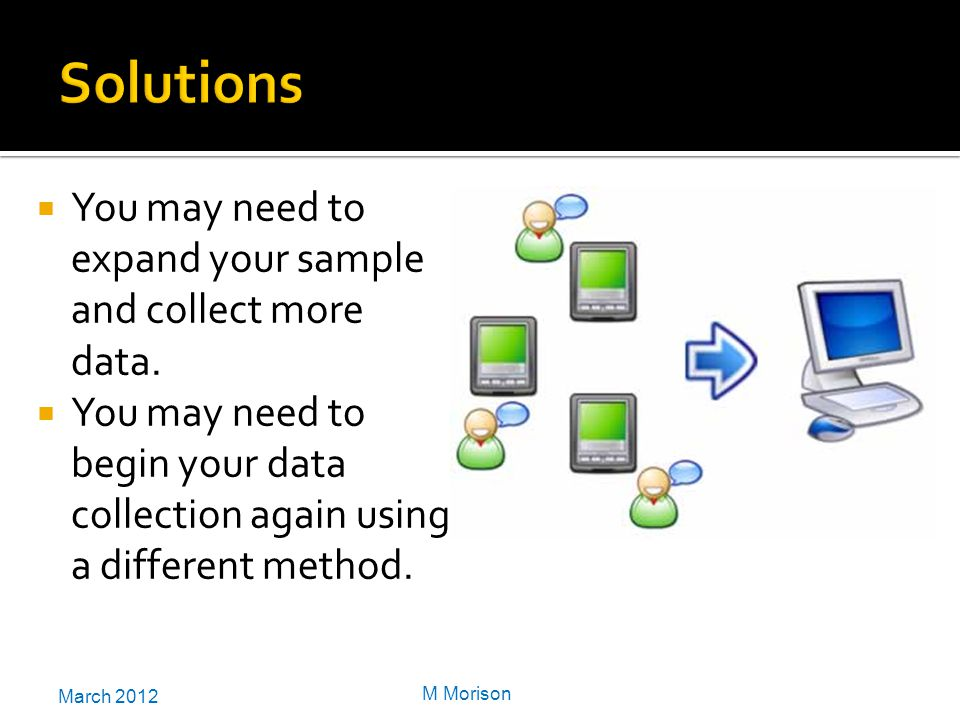 March 2012 M Morison  You may need to expand your sample and collect more data.
