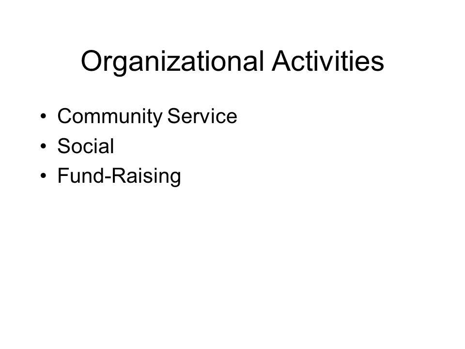 Organizational Activities Community Service Social Fund-Raising
