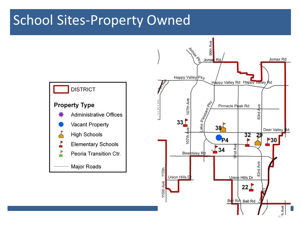 27 School Sites-Property Owned
