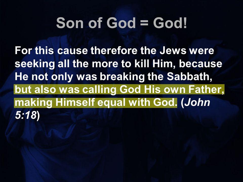 Son of God = God.