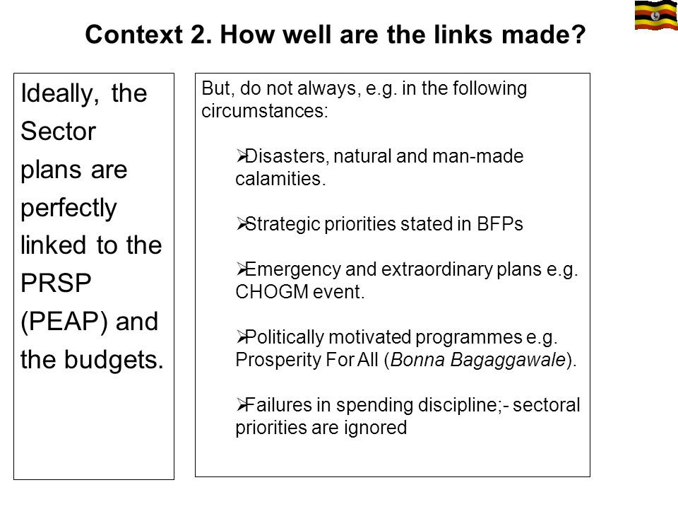 Context 2. How well are the links made.