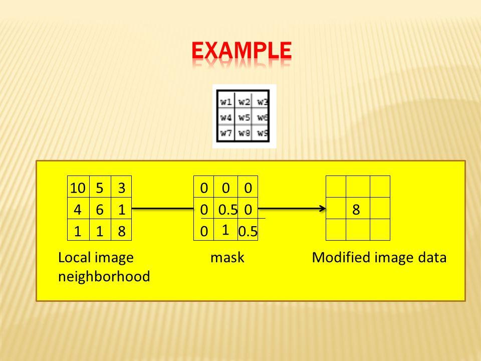 0.5 00 0 000 mask 8 Modified image dataLocal image neighborhood 614 181 5310 1