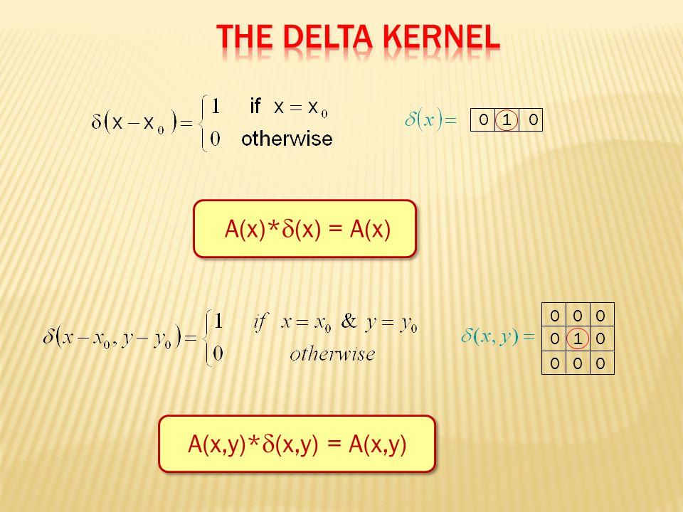 0 1 0 A(x)*  (x) = A(x) 0 0 0 0 1 0 0 0 0 A(x,y)*  (x,y) = A(x,y)
