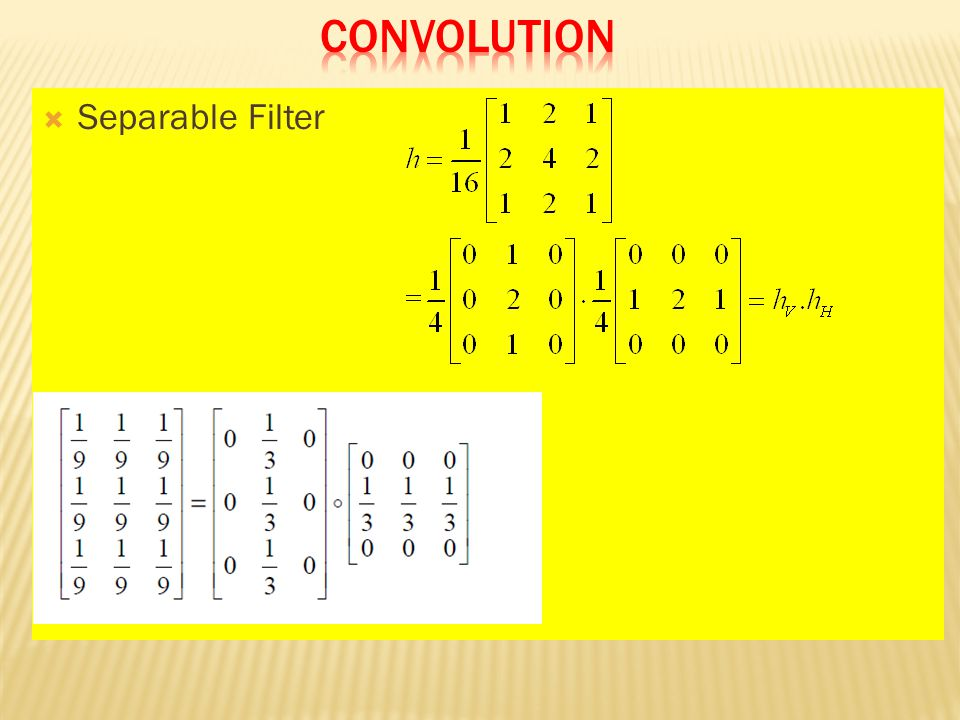  Separable Filter