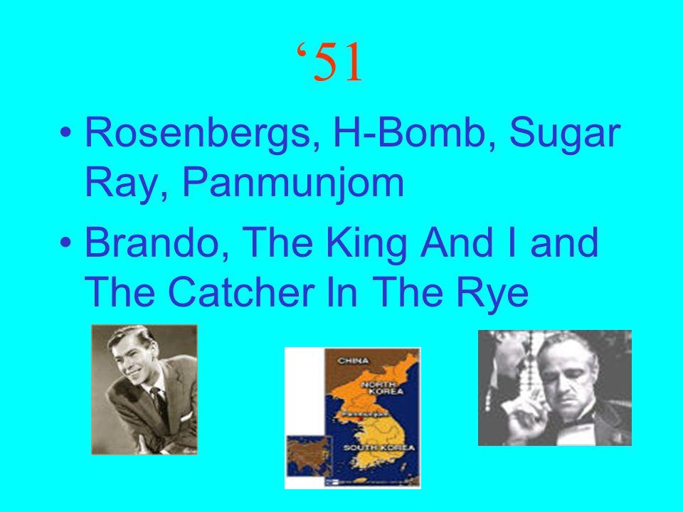 '50 Joe McCarthy, Richard Nixon, Studebaker, Television North Korea, South Korea, Marilyn Monroe