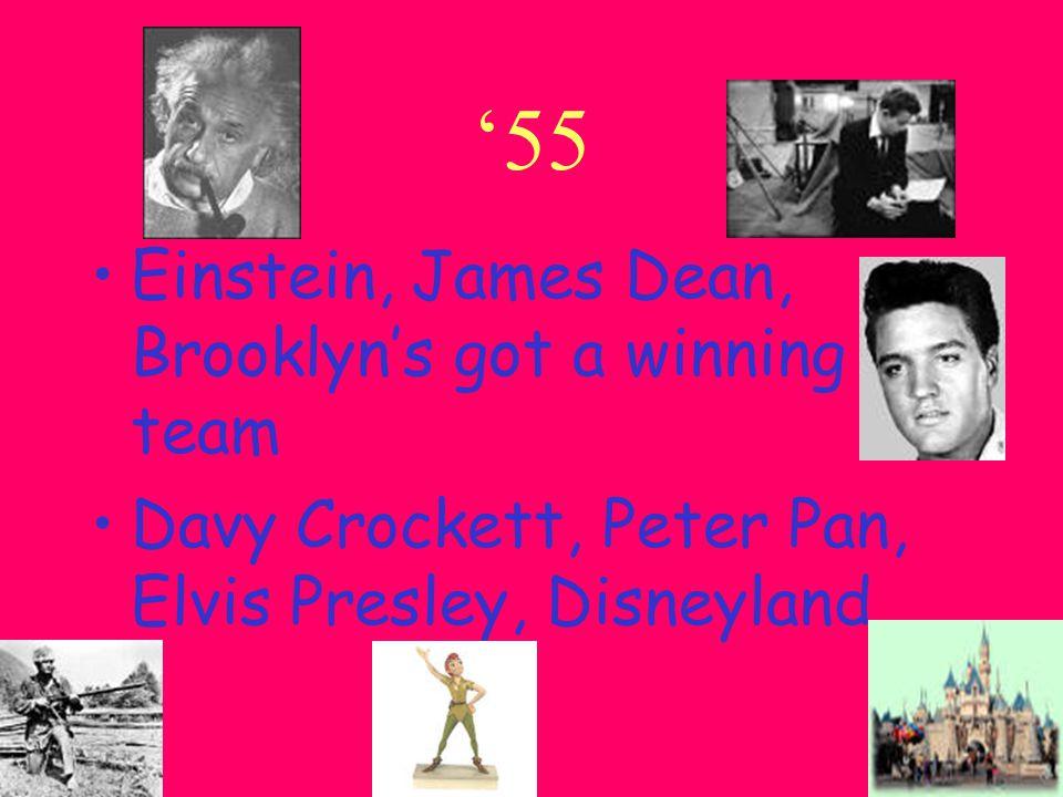 '54 Roy Cohn, Juan Peron, Toscanini, Dacron Dien Bien Phu Falls, Rock around the Clock