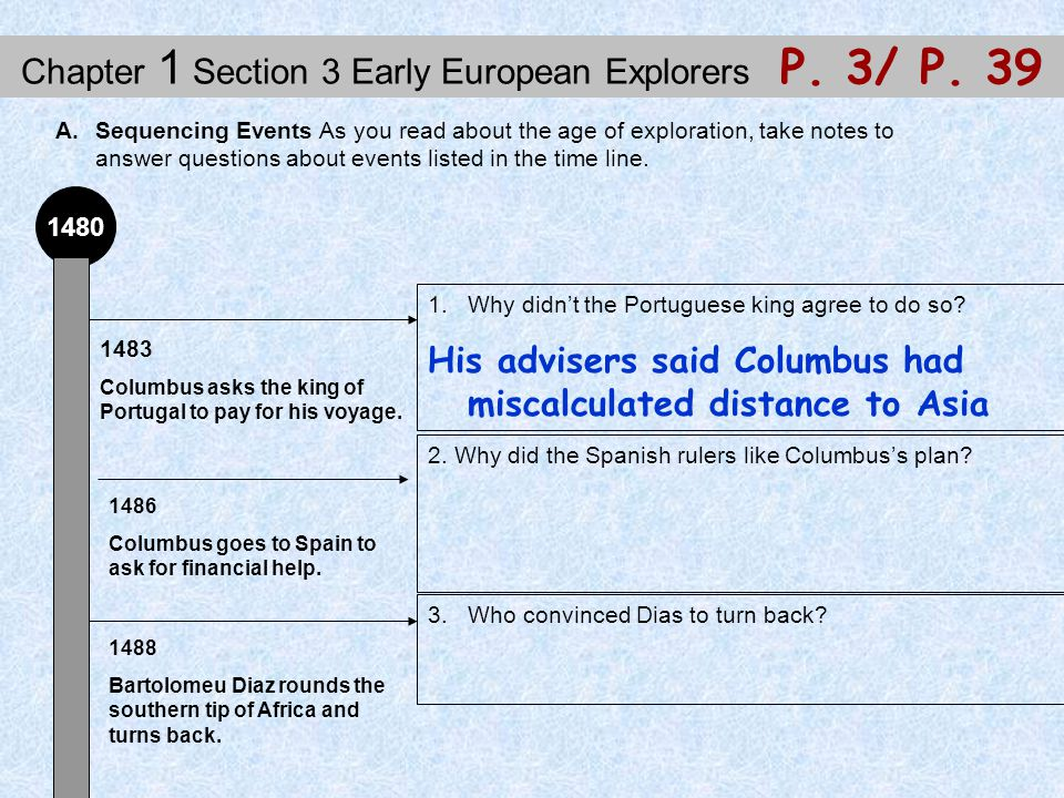 Chapter 1 Section 3 Early European Explorers P.3/ P.
