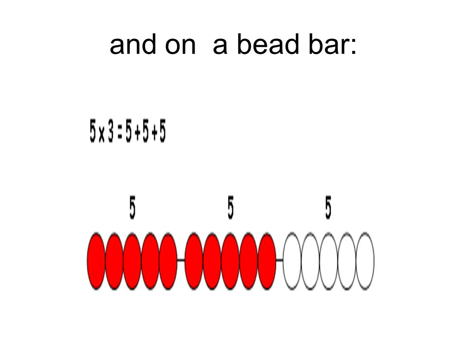 and on a bead bar: