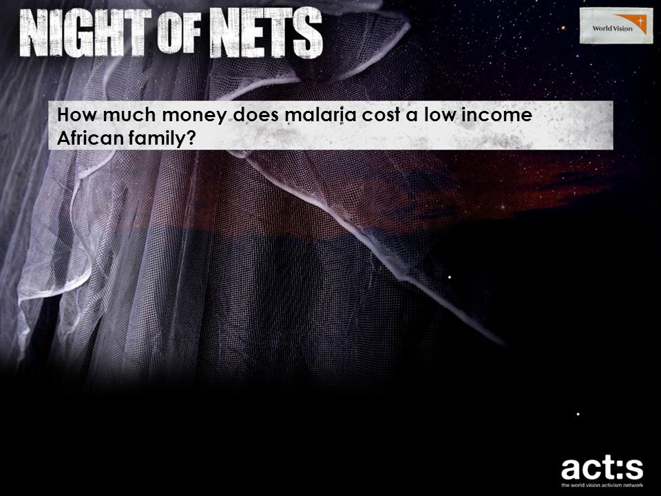 How much money does malaria cost a low income African family?