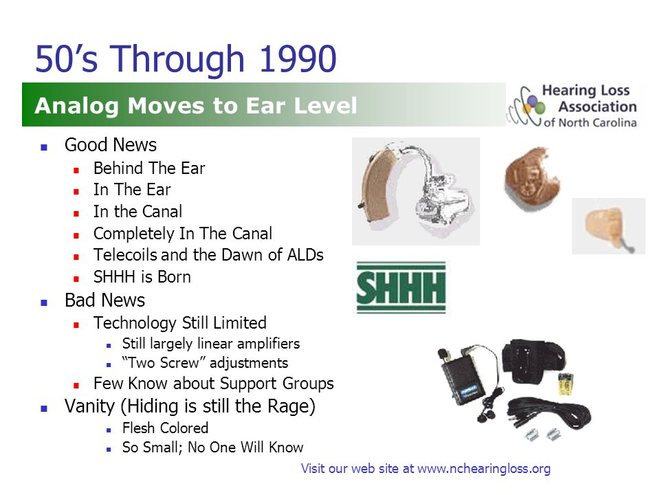 Visit our web site at www.nchearingloss.org Helping Others Become Savvy Accessibility Make Loops more available Encourage captioning Ask for ALDs or captioning and praise providers Speakup when what you need isn't there Help state agencies understand Hearing Loss Promote shared interests among other groups Write or Encourage Articles about Hearing Loss What needs to be Improved