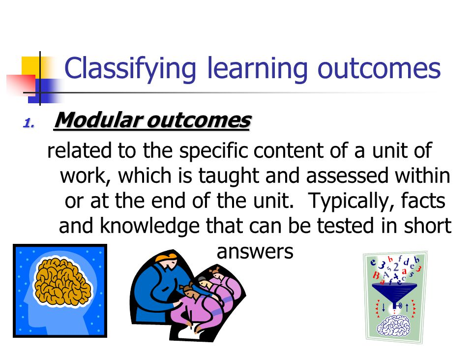 Classifying learning outcomes 1.