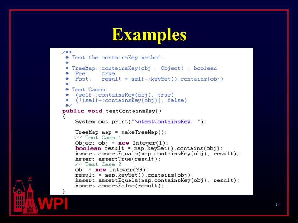 15 WPI Examples