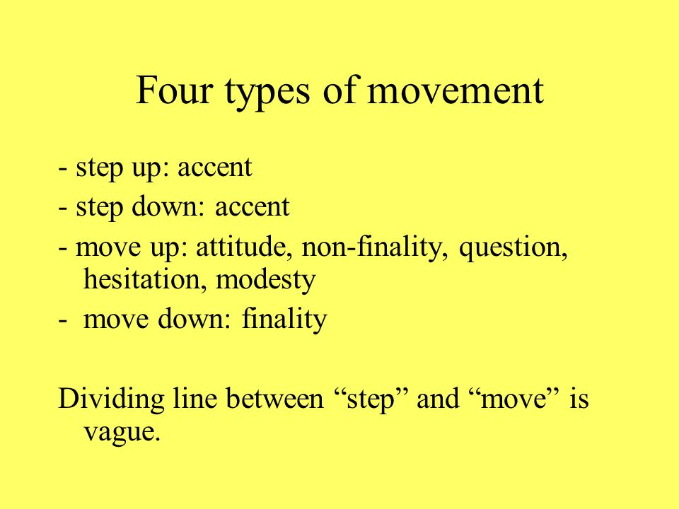 He ought to have asked me first The four important movements (not in the book) Step up on ought and me: me also has a move down, which increases its p