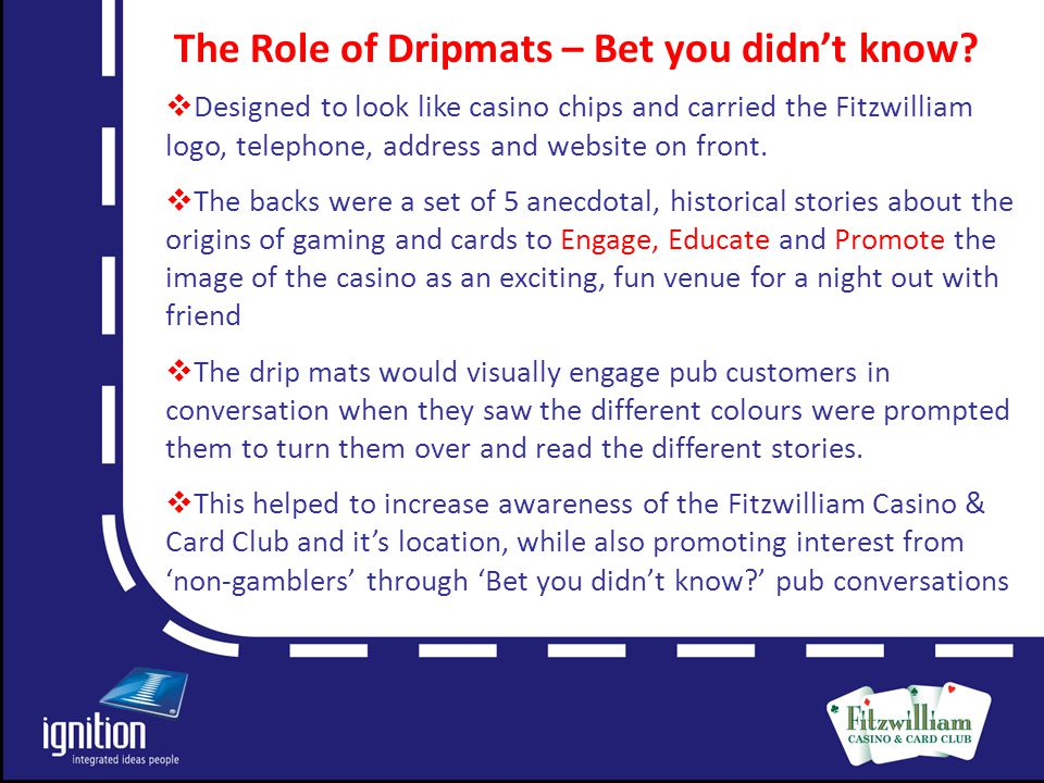Letter The Role of Dripmats – Bet you didn't know.