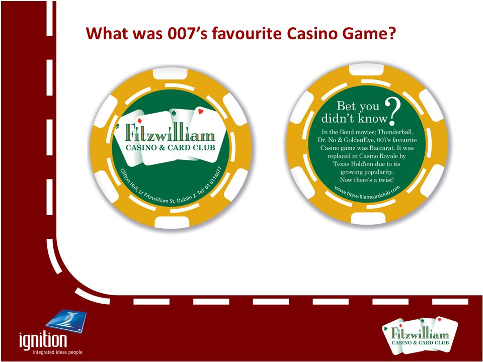 What was 007's favourite Casino Game?