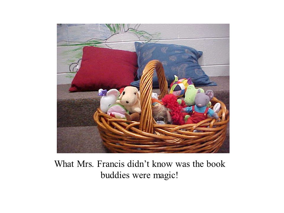What Mrs. Francis didn't know was the book buddies were magic!
