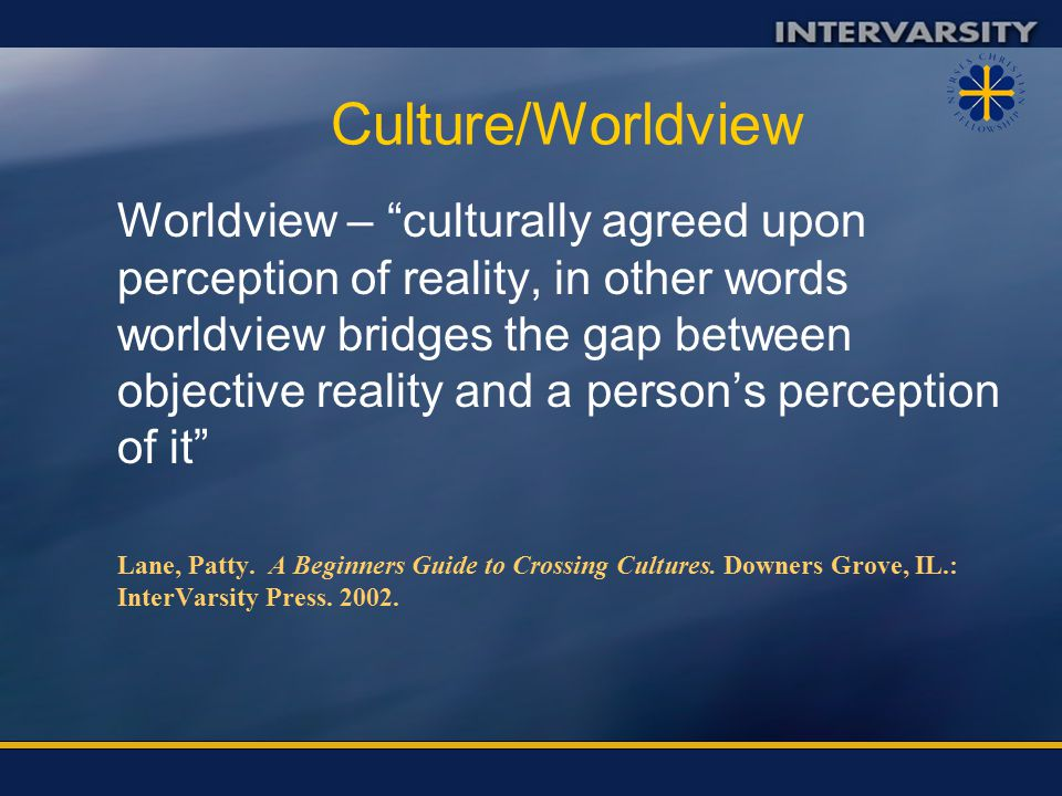 Culture/Worldview What we do or Practice Values and Beliefs Worldview