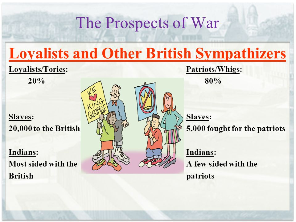 The Prospects of War The Opposing Sides BRITAIN 1.11 million people1.