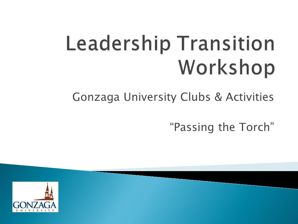 "Gonzaga University Clubs & Activities ""Passing the Torch"""