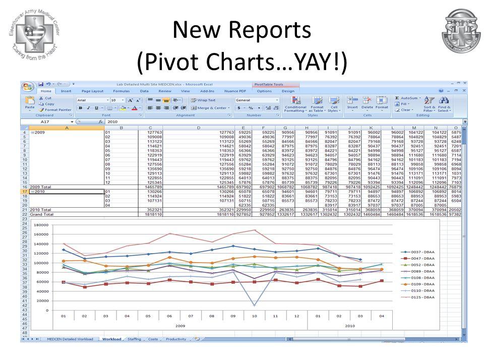 New Reports (Pivot Charts…YAY!)