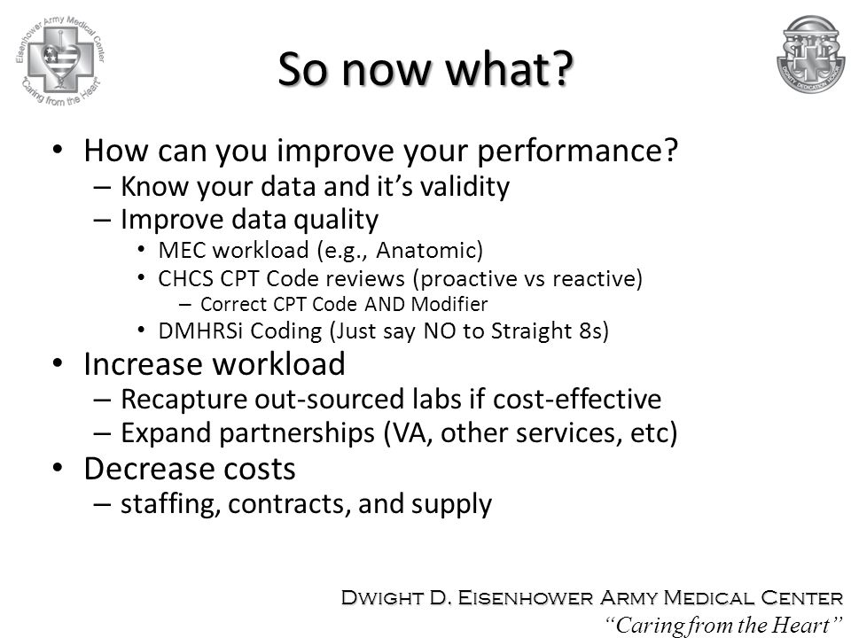 So now what.How can you improve your performance.