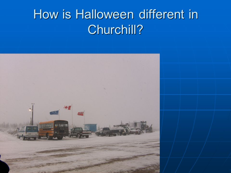 How is Halloween different in Churchill