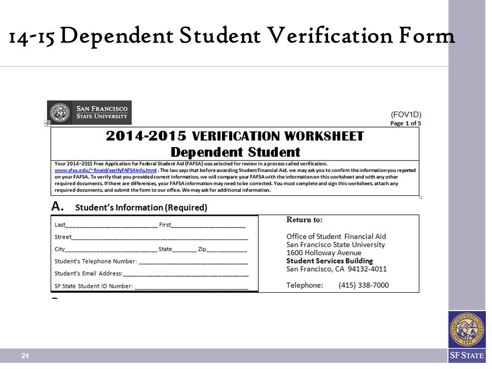 24 14-15 Dependent Student Verification Form