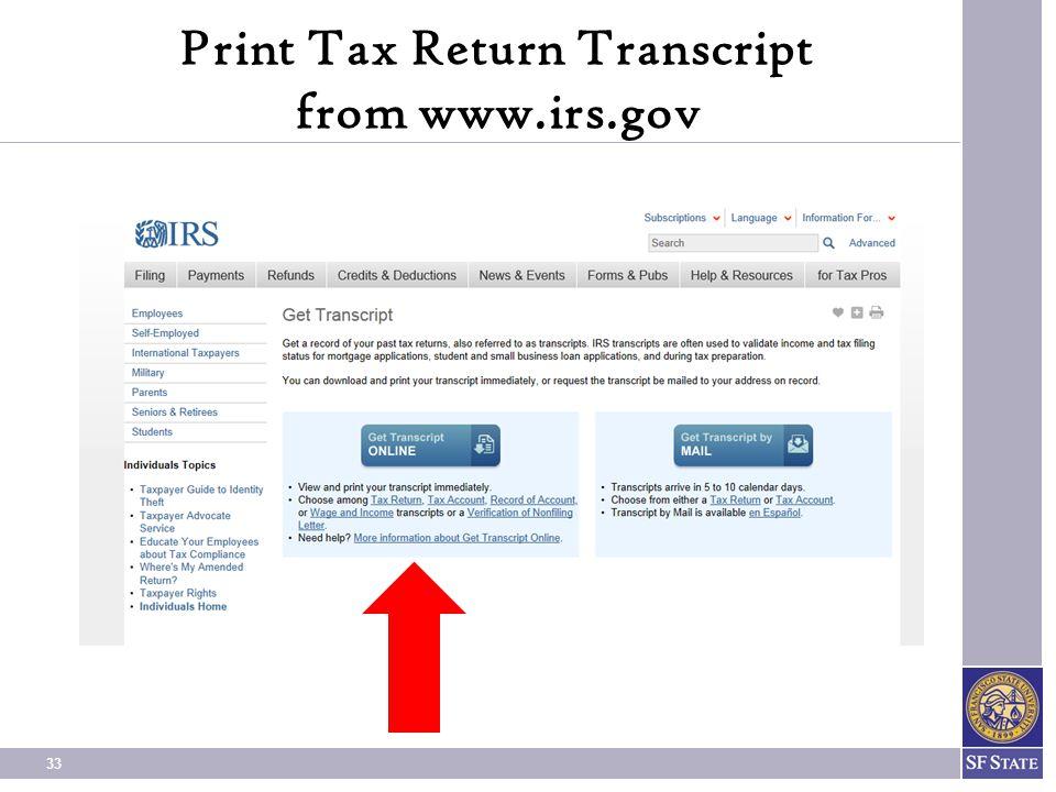 33 Print Tax Return Transcript from www.irs.gov