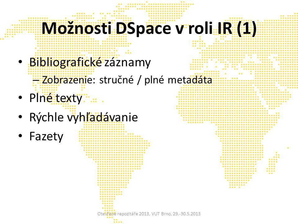 VIVO medziinštitucionálna sieť výskumníkov (inštitúcie: 9 USA, 2 EU, 1 Čínska akadémia vied, 1 India, 2 Austrália) nový prírastok do inkubátora DuraSpace sémantický web (RDF) vizualizácie Otevřené repozitáře 2013, VUT Brno, 29.-30.5.2013