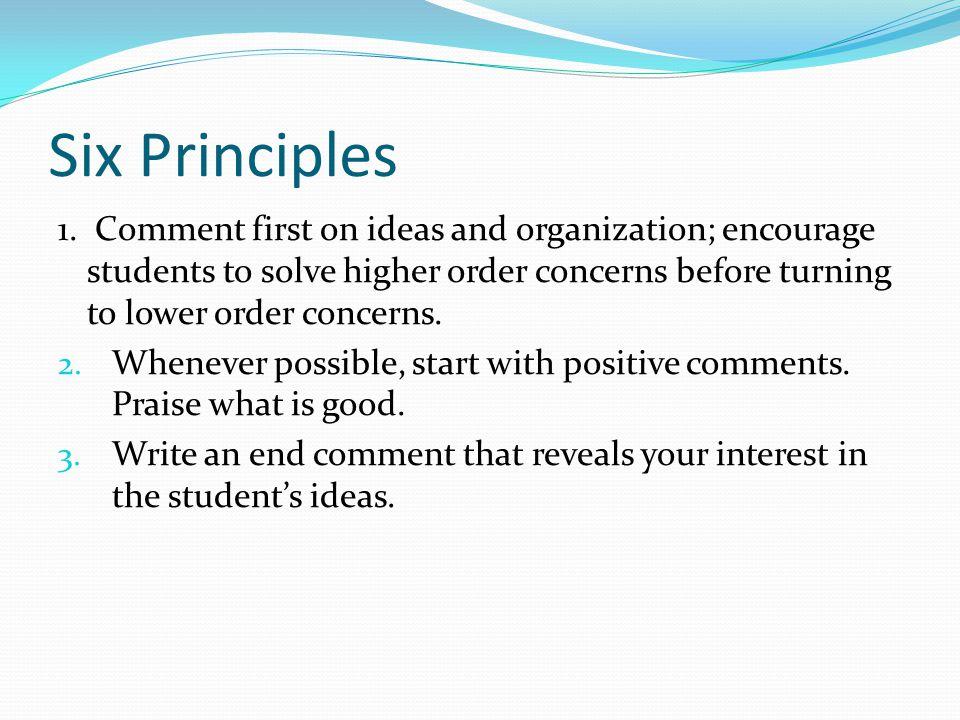 Six Principles 1.