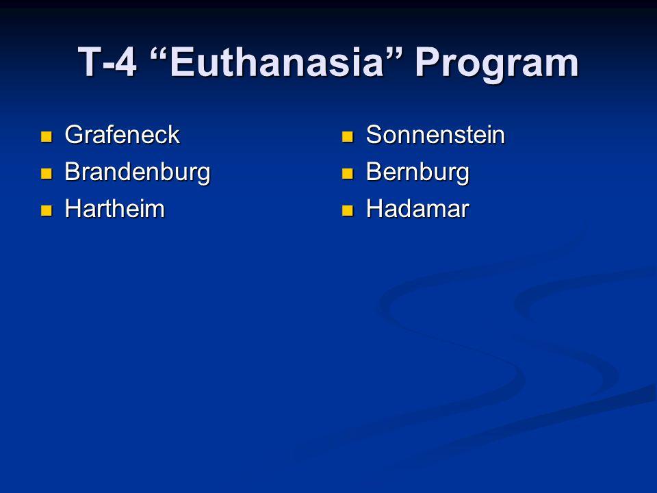 """T-4 """"Euthanasia"""" Program Grafeneck Grafeneck Brandenburg Brandenburg Hartheim Hartheim Sonnenstein Bernburg Hadamar"""