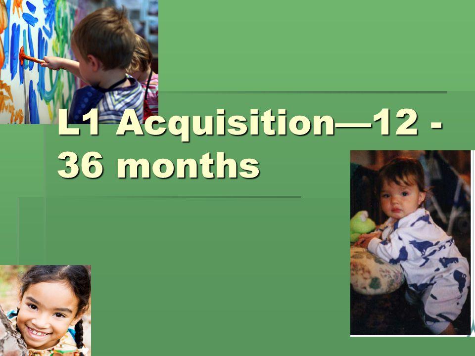 L1 Acquisition—12 - 36 months